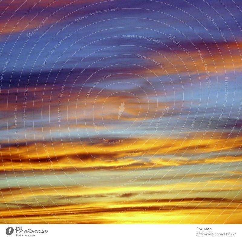 Wilder Himmel Natur Himmel Sonne blau Winter Wolken gelb dunkel Gefühle oben Beleuchtung Küste glänzend rosa gold Kraft