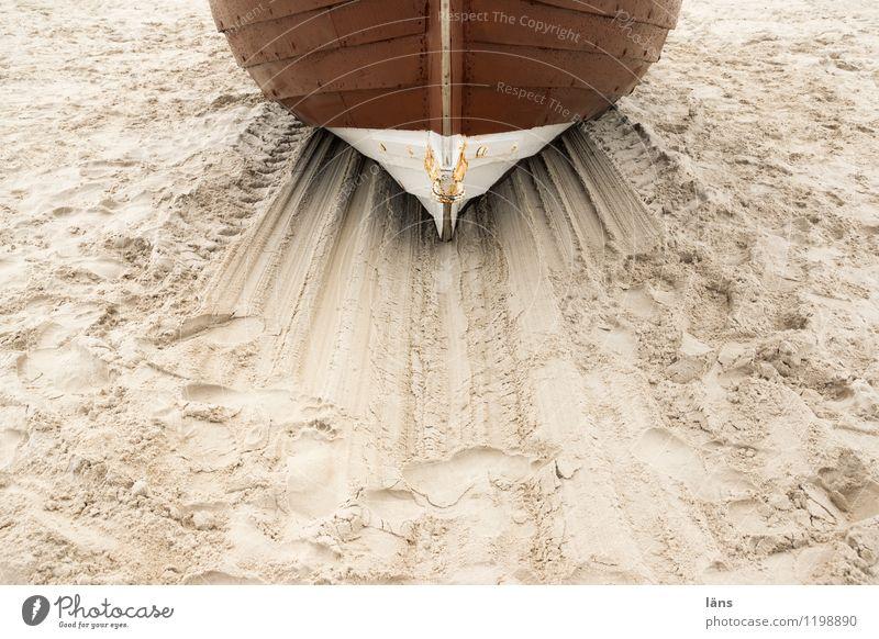 das hast du dir verdient Ferien & Urlaub & Reisen Sommer Meer Strand Küste Linie Sand Tourismus Insel Beginn Ausflug Ostsee Spuren anstrengen Fischereiwirtschaft maritim