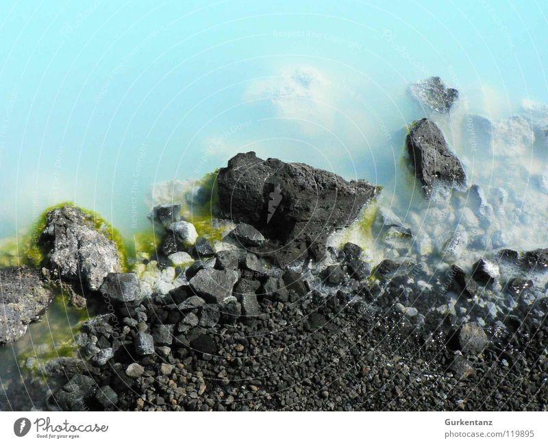 Sehr blaue Lagune Wasser Stein Küste Teile u. Stücke Island Mineralien Schwefel Heisse Quellen Blaue Lagune Phosphor