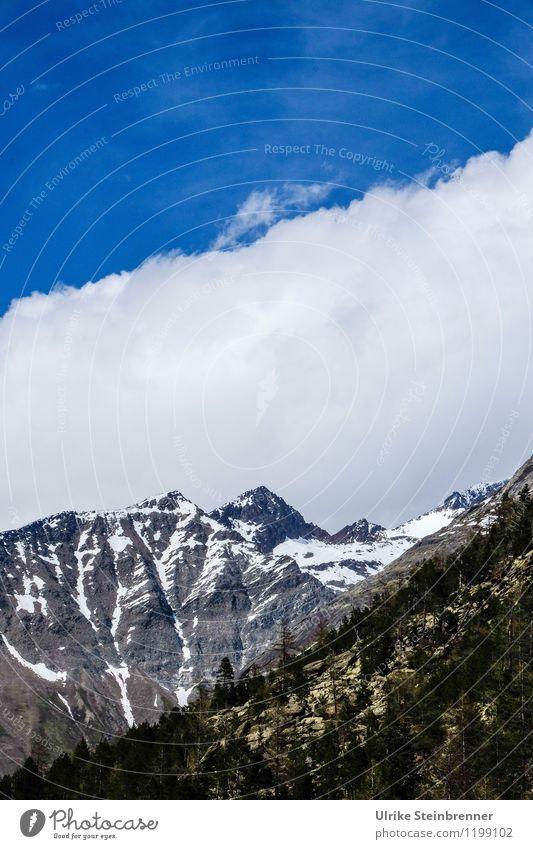 Schneewarnung 1 Himmel Natur Ferien & Urlaub & Reisen blau Pflanze Sommer Sonne Baum Landschaft Wolken Ferne kalt Berge u. Gebirge Umwelt Schnee grau