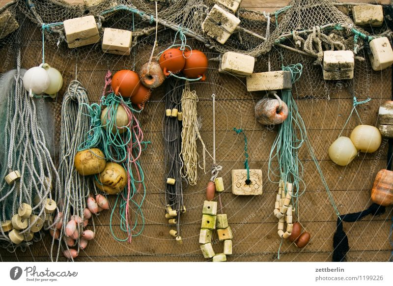 Hafen Gager Ferien & Urlaub & Reisen Reisefotografie Wand Küste Dekoration & Verzierung Tourismus Ostsee Netz Tradition chaotisch Rügen durcheinander Werkzeug