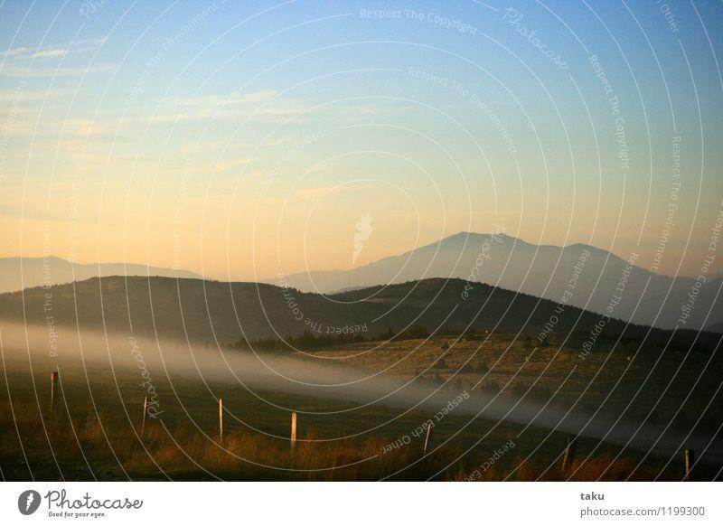 FOG II Landschaft Himmel Wolken Sonnenaufgang Sonnenuntergang Sommer Berge u. Gebirge Gipfel genießen Farbfoto Außenaufnahme Dämmerung