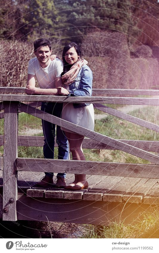 Julia & Christoph Mensch Frau Jugendliche Mann Sommer Junge Frau Junger Mann Erholung Freude 18-30 Jahre Erwachsene Leben Liebe feminin Stil Paar