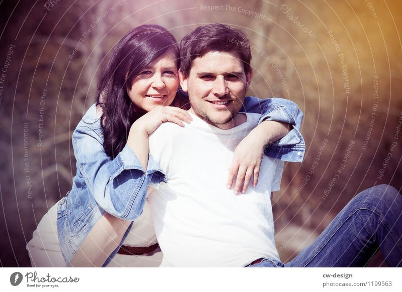 Christoph & Julia Mensch Natur Jugendliche Junge Frau Erholung Junger Mann Freude 18-30 Jahre Erwachsene Leben Wiese feminin Glück Lifestyle Paar Zusammensein