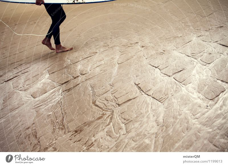back home. Ferien & Urlaub & Reisen Sommer Beine Kunst Sand Zufriedenheit ästhetisch Abenteuer Sommerurlaub Sandstrand Surfen Portugal Surfer Surfbrett