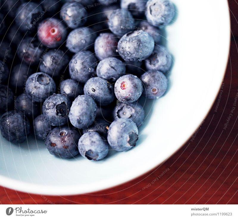 Frühstücksleckerei I blau Foodfotografie Lebensmittel Zufriedenheit ästhetisch viele Appetit & Hunger Beeren Schalen & Schüsseln Blaubeeren Müsli