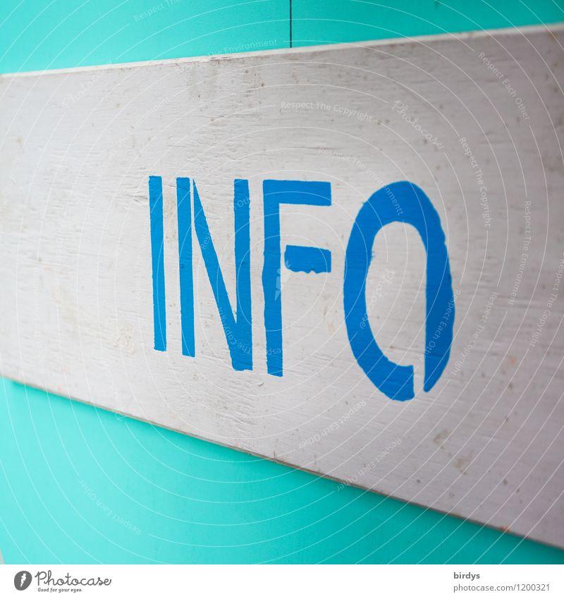Infotainment Bildung Wirtschaft Medienbranche Werbebranche sprechen Schriftzeichen Hinweisschild Warnschild ästhetisch Freundlichkeit positiv blau grau türkis