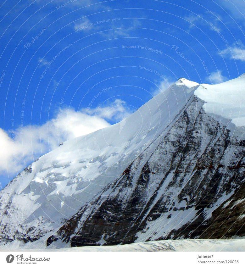 Big Mountain II Luft Himmel Schnee Schweiz wandern Bergsteigen Klettern Wolken kalt Macht Berge u. Gebirge Sky Heaven Barrhorn Wind Aussicht gigantisch