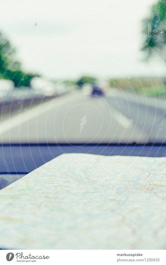 routenplanung analog Lifestyle Freude Ferien & Urlaub & Reisen Tourismus Ausflug Abenteuer Ferne Freiheit Sightseeing Expedition Sommer Sommerurlaub