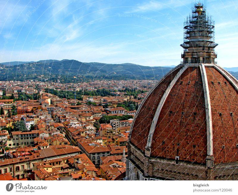 Florenz (Italien) Farbfoto Menschenleer Textfreiraum oben Vogelperspektive Panorama (Aussicht) Himmel Europa Stadt Stadtzentrum Kirche Dom historisch