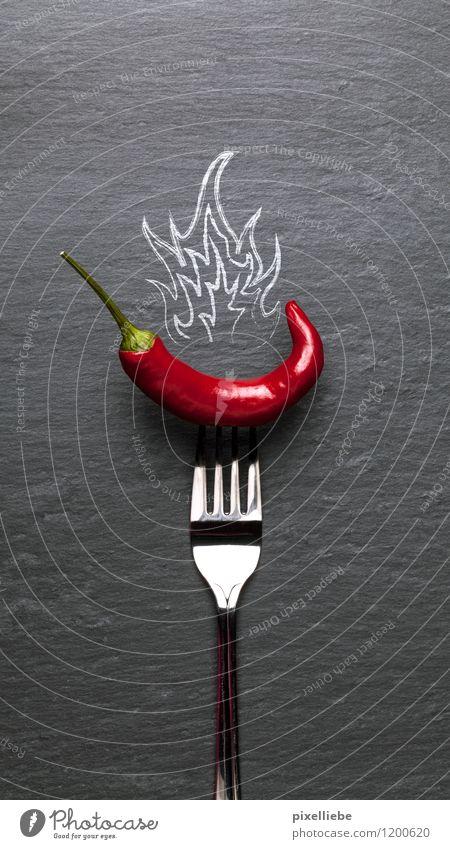 Red hot chilli pepper Lebensmittel Gemüse Kräuter & Gewürze Ernährung Vegetarische Ernährung Diät Fingerfood Italienische Küche Besteck Gabel Gesundheit