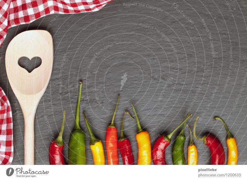 Chili Liebe Gesunde Ernährung Essen Holz Gesundheit Stein Lebensmittel Frucht Kochen & Garen & Backen Herz Zeichen Scharfer Geschmack Kräuter & Gewürze Küche