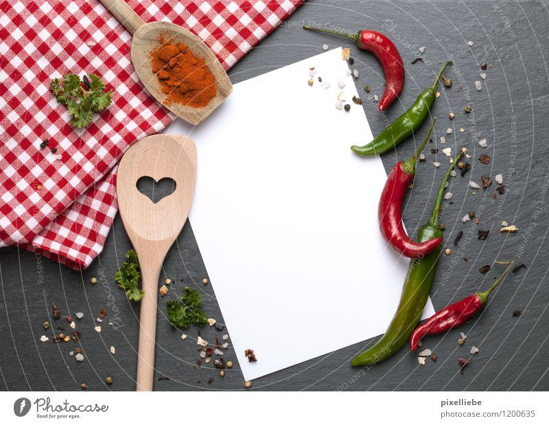 Scharfes Rezept Gesunde Ernährung Liebe Essen Holz Gesundheit Stein Lebensmittel Herz Papier Scharfer Geschmack Kräuter & Gewürze Küche Gemüse Gastronomie