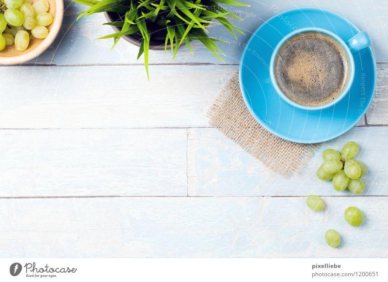 Frühstück-Zeit Erholung Gesunde Ernährung Essen Holz Gesundheit Lebensmittel Lifestyle Frucht Tisch Getränk Küche Kaffee Gastronomie Restaurant türkis