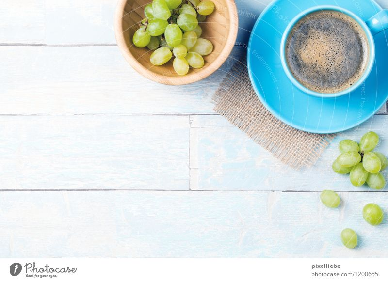 Blau-Pause Erholung Gesunde Ernährung Essen Holz Gesundheit Lifestyle Frucht Büro Tisch Getränk Küche Kaffee trinken Gastronomie lecker