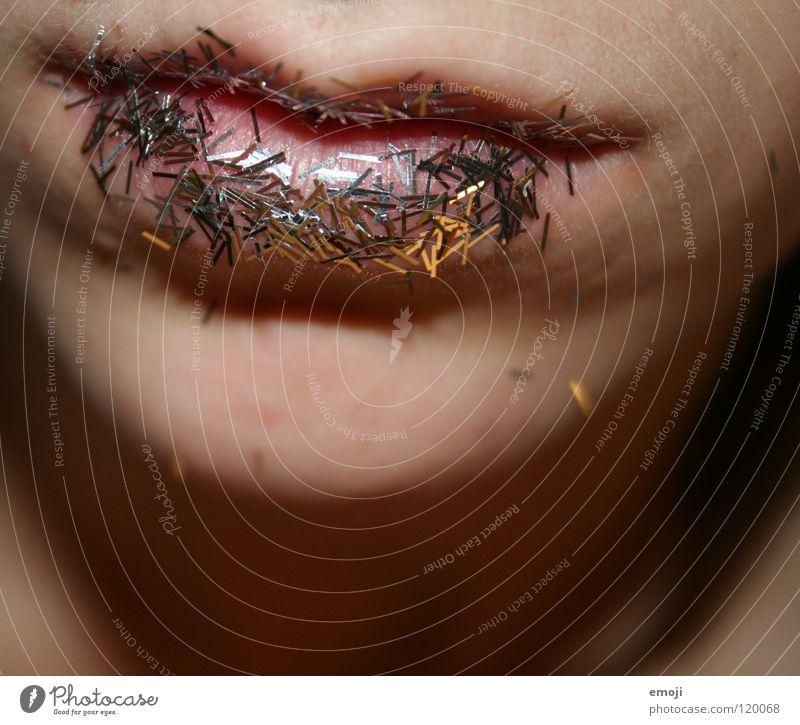 Salzschnute Ernährung feminin Stil Essen Kunst glänzend Mund Haut Dekoration & Verzierung süß Kultur Lippen nah Karneval Club Kosmetik