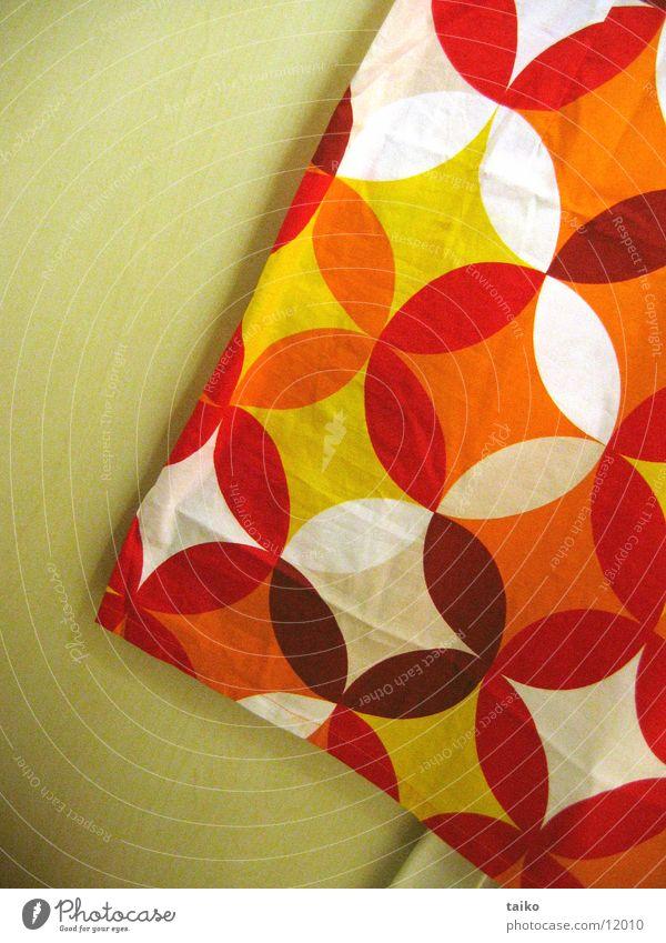 tapetenrock rot gelb orange obskur Muster Siebziger Jahre Tapetenmuster