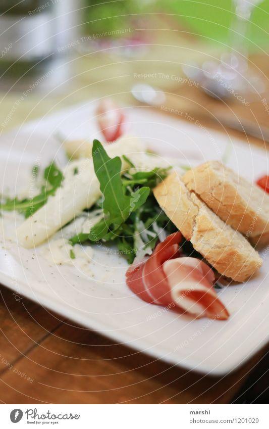 sommerliche Vorspeise Lebensmittel Gemüse Ernährung Essen Mittagessen Abendessen Büffet Brunch Festessen Diät Stimmung Brot Spargel Gesunde Ernährung Gesundheit