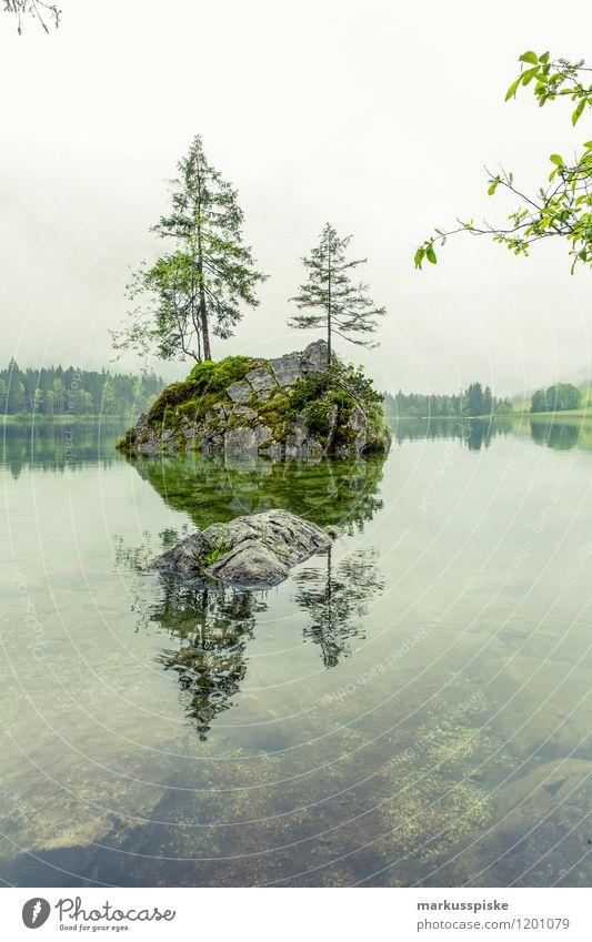 hintersee, ramsau, berchtesgaden Ferien & Urlaub & Reisen Sommer Baum Ferne Wald Berge u. Gebirge Freiheit Felsen Freizeit & Hobby Tourismus Nebel Ausflug