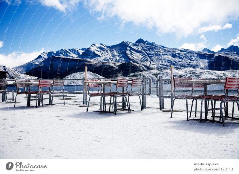 eis Winter Ferien & Urlaub & Reisen Wolken Schnee Berge u. Gebirge See Landschaft Eis Wetter Aussicht Freizeit & Hobby Schweiz Alpen Restaurant gefroren