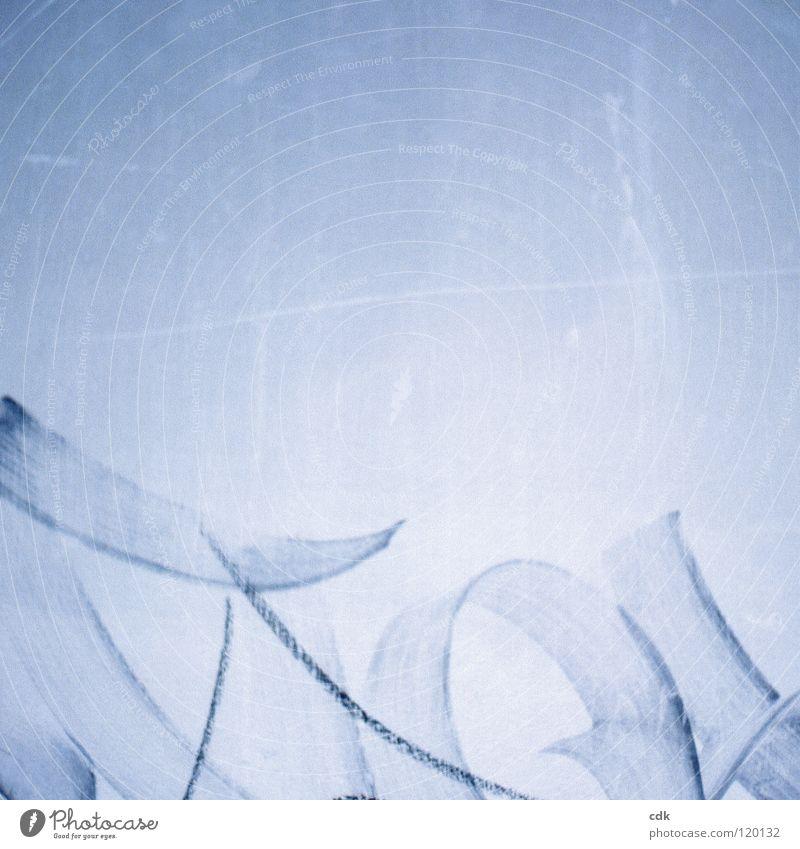 frei interpretiert blau Farbe dunkel Wand Graffiti Linie hell Kunst modern Wildtier Schriftzeichen Coolness Kreis Bild streichen Symbole & Metaphern