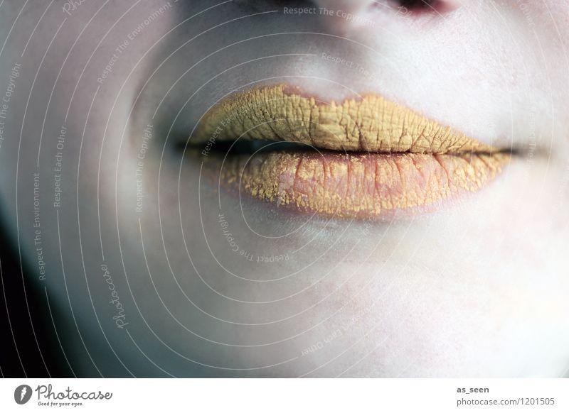 Cynical schön Farbe gelb feminin außergewöhnlich Kunst Mode Party Design gold Musik ästhetisch Kreativität Lächeln Mund einzigartig