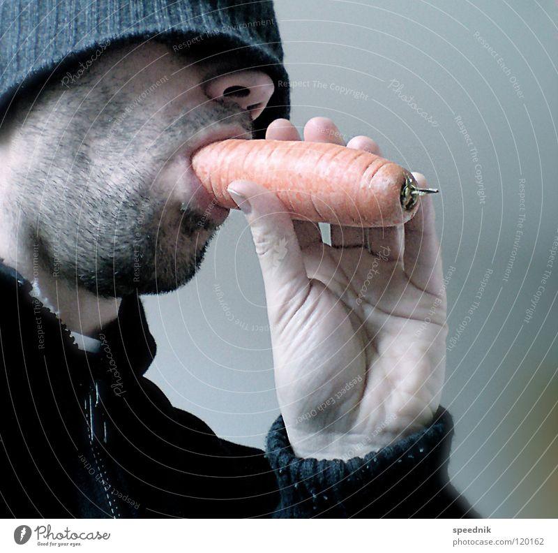Junges Gemüse #1 | GemüseGangsta Mann Hand weiß rot schwarz Ernährung Lebensmittel Gesundheit Essen Haut rosa maskulin Landwirtschaft Hut