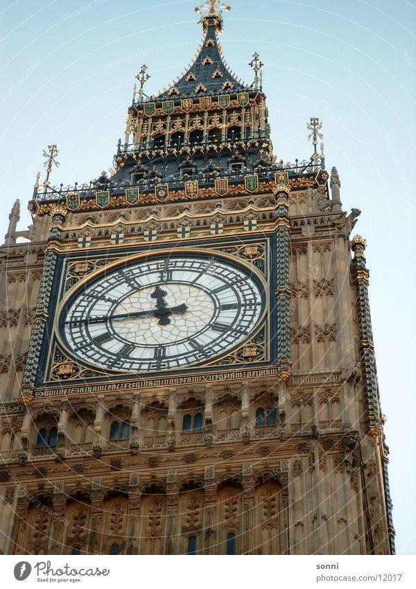 Big Ben Uhr Turm historisch London England Glocke Großbritannien Glockenturm