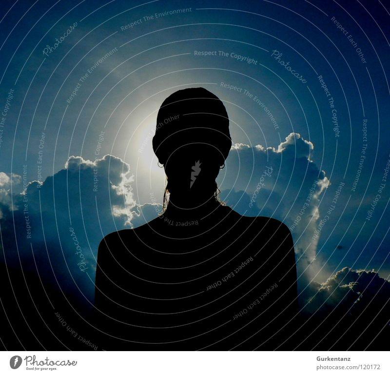 Lady Wolkenstein Frau schön Himmel Sonne blau Wolken Veilchengewächse Blume Blauton