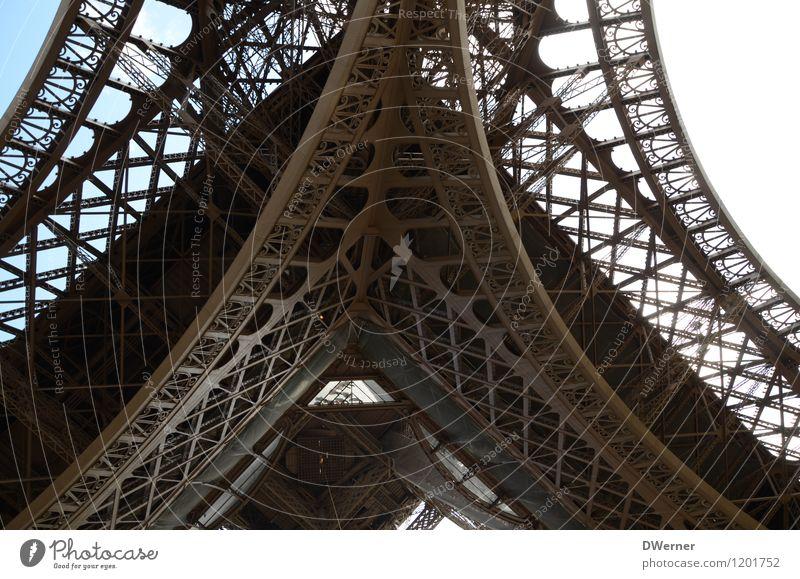 Tour Eiffel Himmel Ferien & Urlaub & Reisen Stadt blau Sommer Architektur braun Metall Freizeit & Hobby Tourismus stehen groß Ausflug einzigartig Turm Ewigkeit
