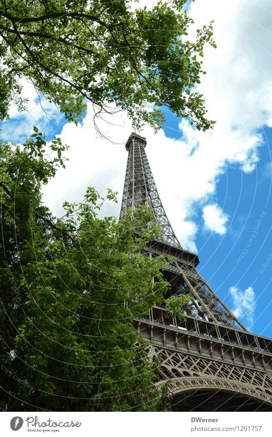 400 - Wir treibens auf die Spitze Ferien & Urlaub & Reisen blau Baum Architektur Liebe Stil Gebäude Park Tourismus Kraft stehen hoch Ausflug Schönes Wetter Turm