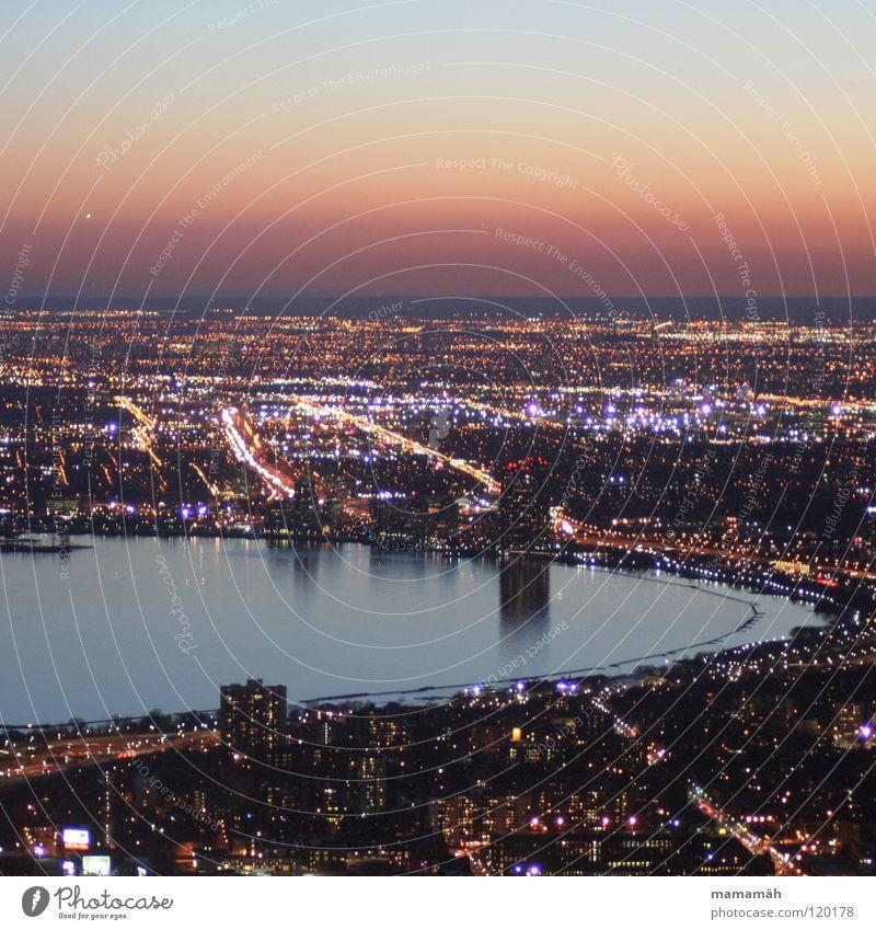 Toronto bei Nacht! Teil 4 Kanada Stadt dunkel Licht Straßenbeleuchtung See Haus Hochhaus Sonnenuntergang Horizont Reflexion & Spiegelung Scheinwerfer Wasser