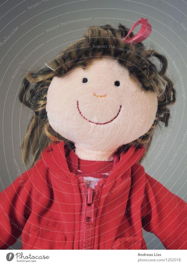 Puppenportrait Spielzeug Spielen niedlich Stimmung Kindheit Porträt Farbfoto Innenaufnahme Blick in die Kamera