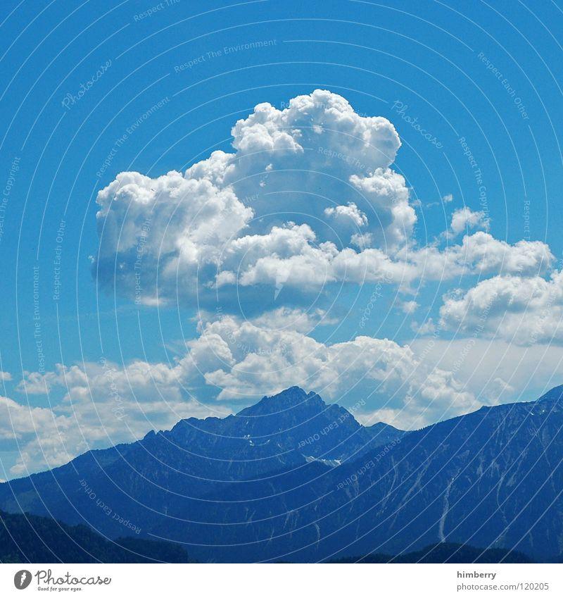 colkenwase Himmel blau Sommer Ferien & Urlaub & Reisen Wolken Berge u. Gebirge träumen Landschaft wandern groß Aussicht Freizeit & Hobby Klettern Alpen Hügel