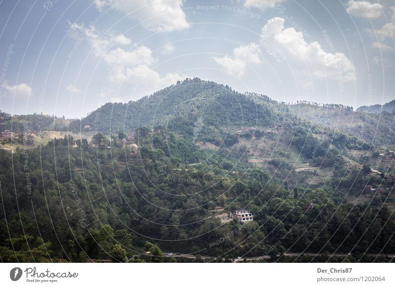 Landschaft in Nepal Ferien & Urlaub & Reisen Tourismus Ausflug Abenteuer Ferne Freiheit Berge u. Gebirge Natur Pflanze Wald Asien Farbfoto Außenaufnahme