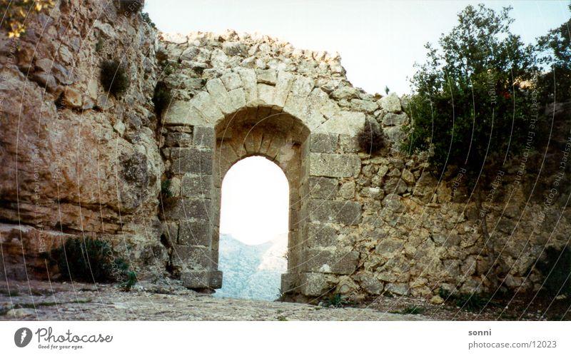 Mauer Ferne Tor Ausgang