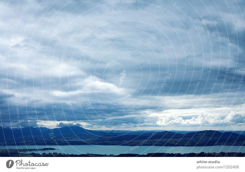 Ruhe vor dem Sturm Hügel Felsen Alpen Berge u. Gebirge Gipfel Küste Seeufer Ferien & Urlaub & Reisen Erholung Erholungsgebiet Außenaufnahme Ausflug Wolken