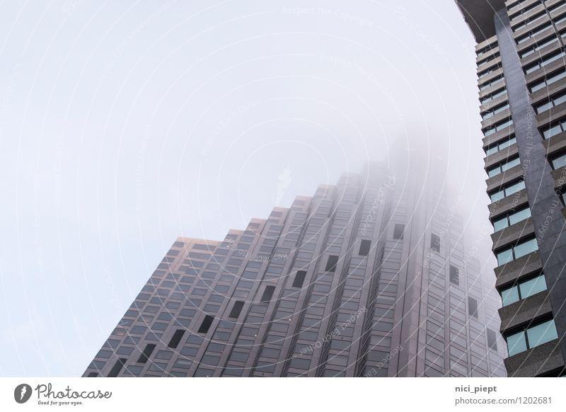 Wolkenkratzer San Francisco Stars and Stripes Kalifornien Stadt Stadtzentrum Stadtrand Menschenleer Haus Hochhaus Bauwerk Gebäude Architektur atmen ästhetisch