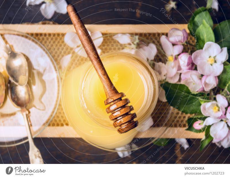 Ein guter Honig Gesunde Ernährung Leben Blüte Stil Lebensmittel Design Glas Süßwaren Medikament Duft Bioprodukte Schalen & Schüsseln Teller altehrwürdig Diät