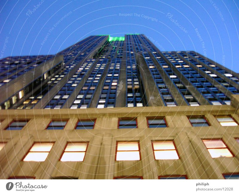 EmpireStateNight Haus Architektur Hochhaus USA Manhattan York