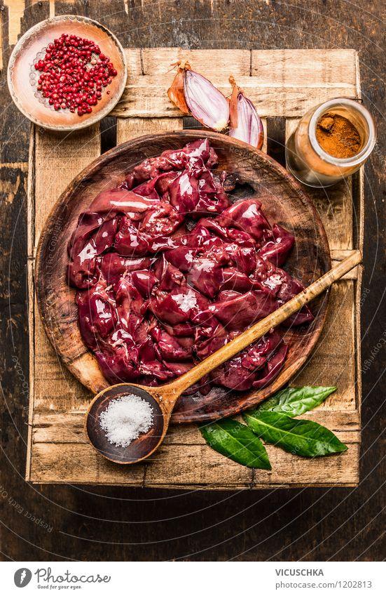 Hähnchenleber zubereiten Gesunde Ernährung Leben Stil Essen Foodfotografie Lebensmittel Design Glas Tisch Kochen & Garen & Backen Kräuter & Gewürze Küche