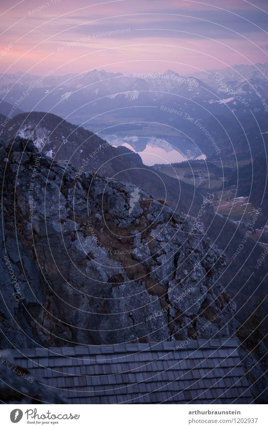 Almhütte in den Bergen Himmel Natur Ferien & Urlaub & Reisen Sommer Landschaft Berge u. Gebirge Umwelt Frühling Schnee Sport Gesundheit Freiheit Stein Felsen