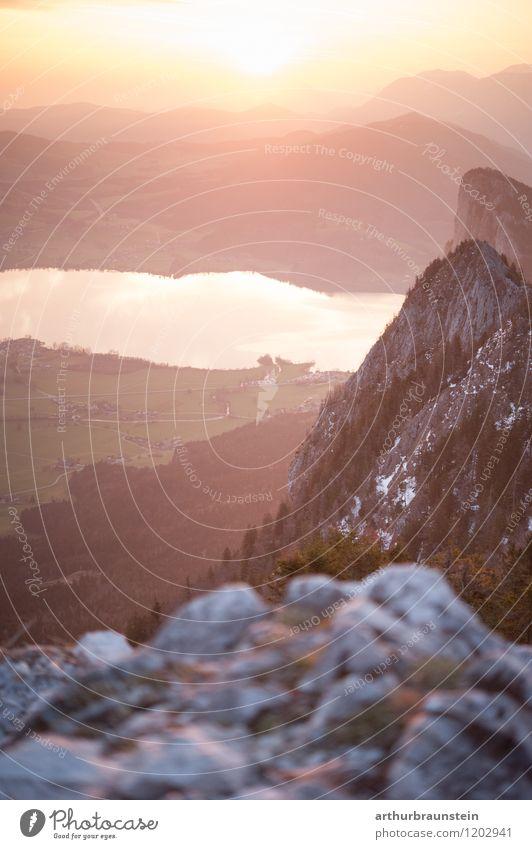 Sonnenaufgang über dem Salzkammergut Himmel Natur Ferien & Urlaub & Reisen schön Sommer Wasser Landschaft Wald Berge u. Gebirge Umwelt Frühling Wiese Sport