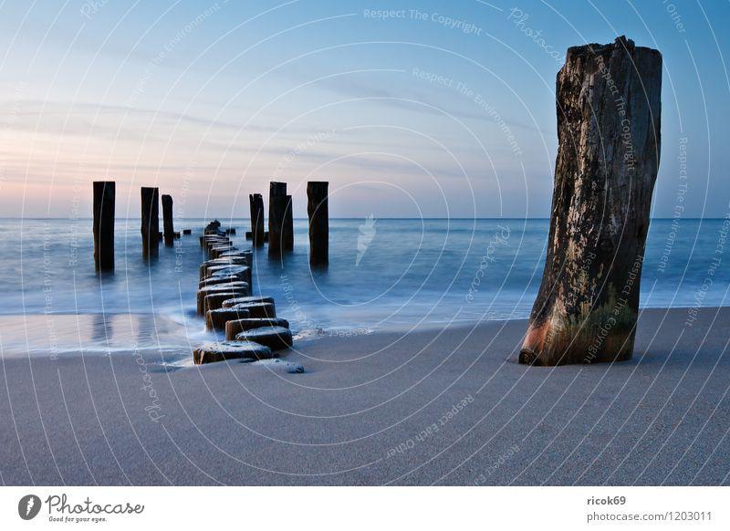 Buhnen an der Küste der Ostsee Natur Ferien & Urlaub & Reisen alt blau Wasser Meer Landschaft ruhig Wolken Strand Umwelt Idylle Romantik Ziel