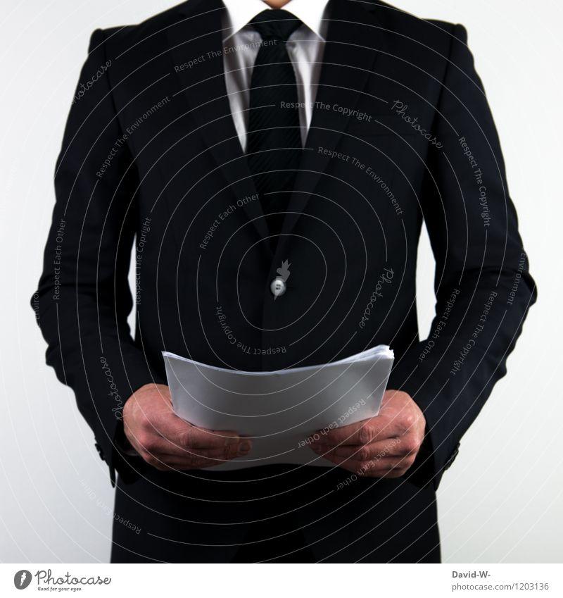 Businessman Vortrag Mensch Mann Erwachsene sprechen Lifestyle maskulin elegant Erfolg Studium lesen planen Sicherheit Bildung Beruf Sitzung
