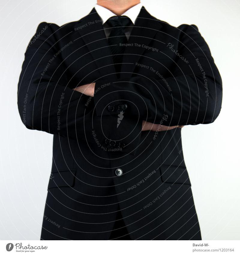 Businessman selbstbewusst Mensch Mann Erwachsene sprechen Stil Arbeit & Erwerbstätigkeit maskulin elegant Erfolg warten beobachten bedrohlich Wut Sitzung Anzug