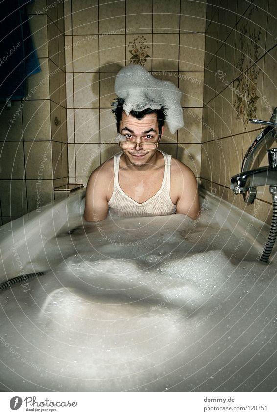 Kalles Badetag Mann alt Blume Freude Spielen Haare & Frisuren lustig Schwimmen & Baden Arme dreckig Mund Haut verrückt Brille Reinigen Badewanne