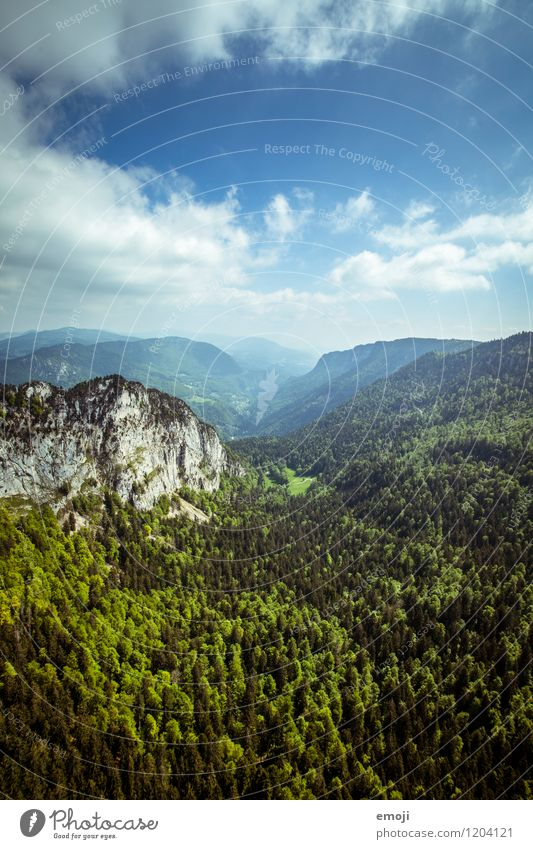 Natur Himmel blau grün Sommer Landschaft Wald Umwelt natürlich Schönes Wetter Hügel Schweiz