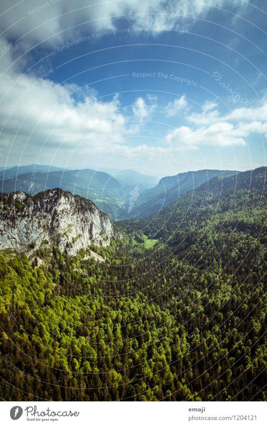 Natur Umwelt Landschaft Himmel Sommer Schönes Wetter Wald Hügel natürlich blau grün Schweiz Farbfoto Außenaufnahme Menschenleer Tag Panorama (Aussicht)
