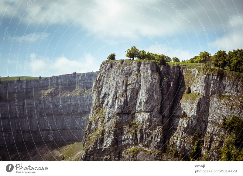 am Abgrund Natur Sommer Landschaft Umwelt Berge u. Gebirge natürlich Felsen Schönes Wetter Unendlichkeit Am Rand Schlucht Klippe